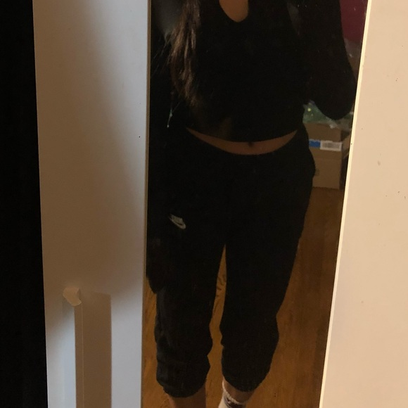 Nike Pants - Black Cropped Nike sweats